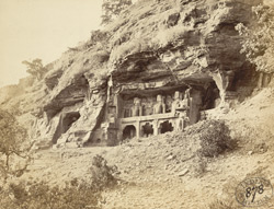 Colossal rock-cut figures of Jain tirthankaras, Gwalior